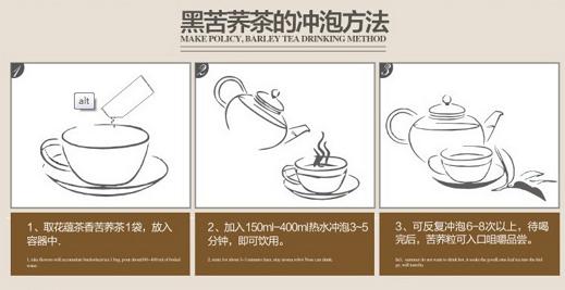黑苦荞茶的冲泡方法