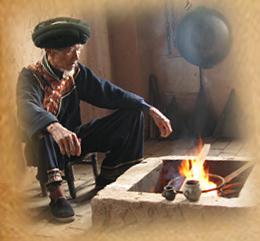 彝族人家,饮苦荞茶,健康养生