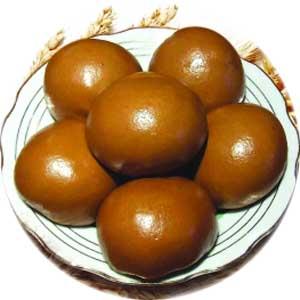 黑苦荞粉加入适量红薯粉