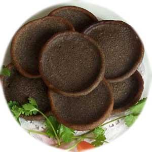黑苦荞黑米饼