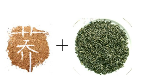 在苦荞茶中加泡绿茶