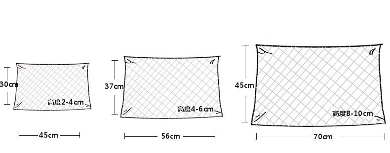 荞麦壳枕头尺寸图