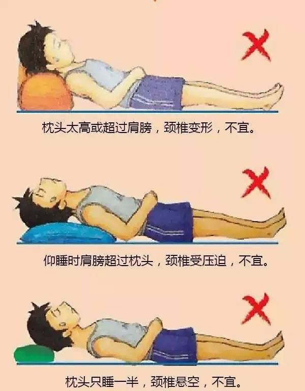 枕头高低示意图